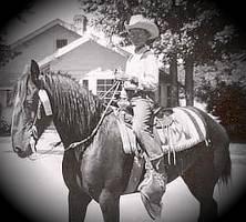 Cowboy John on horseback 1947